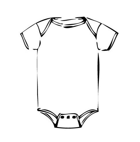 Baby Onsie template free